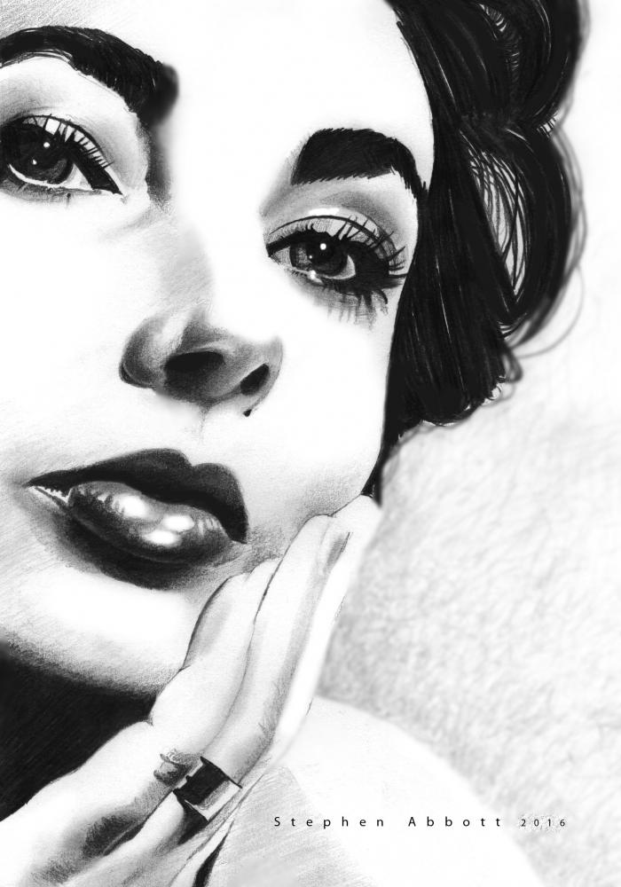 Elizabeth Taylor by StephenAbbott